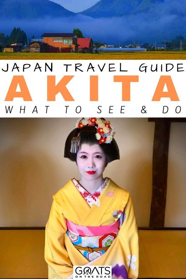 akita with text overlay Japan travel guide