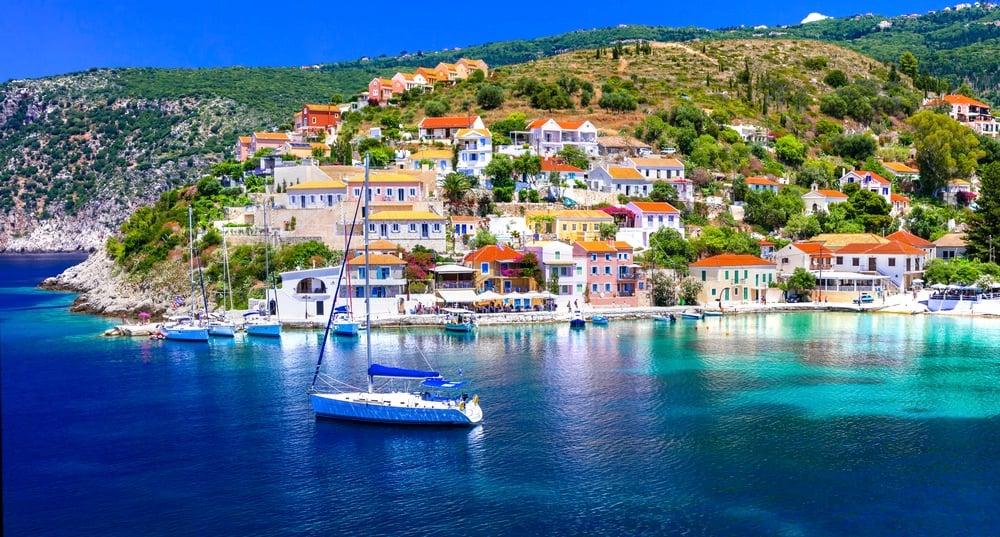 Kefalonia Island Greece City Sea View