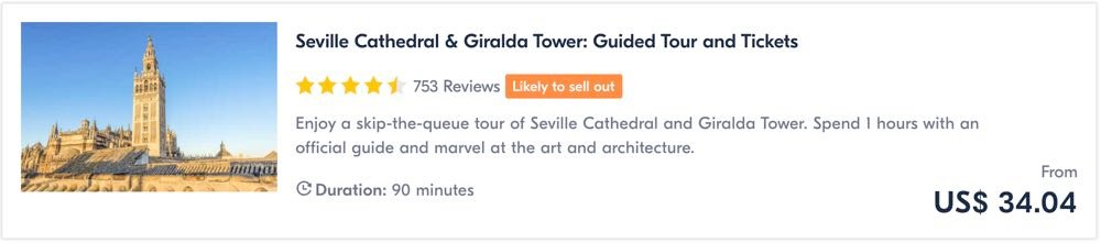 things to do in seville cathedral tour