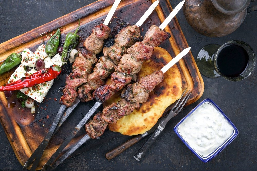 Souvlaki Travel Greece Greek Food