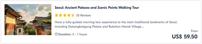 palace tour in seoul