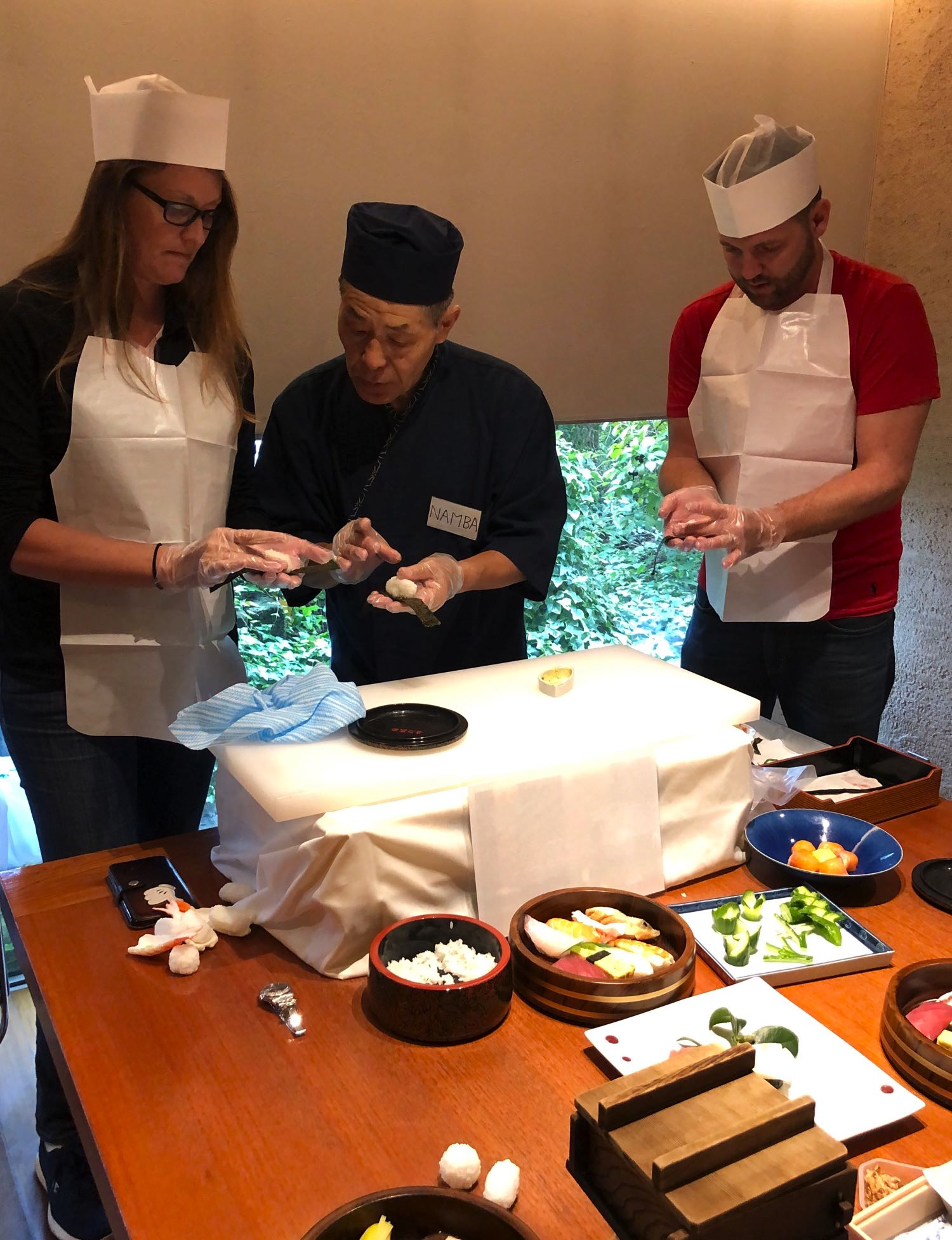 sushi making class okayama