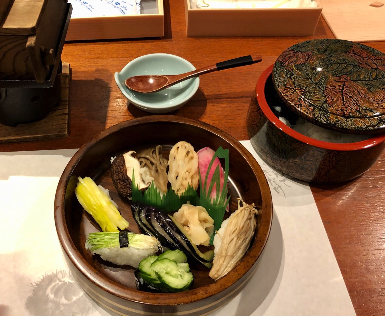 vegetarian sushi okayama