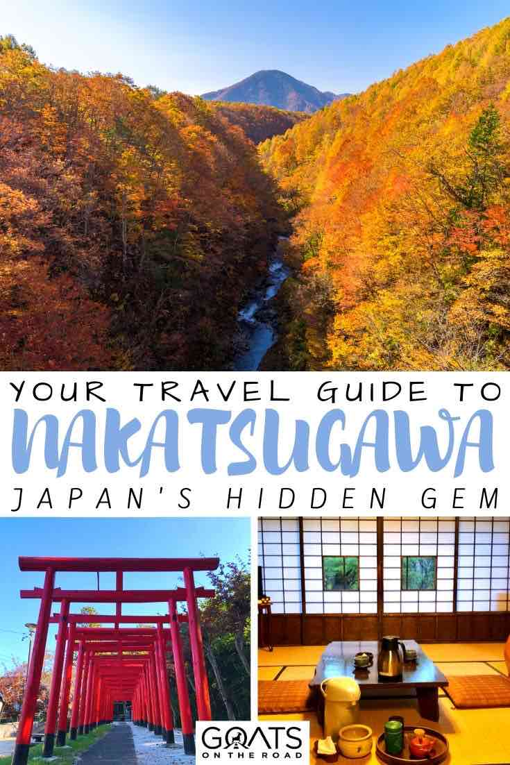 Nakatsugawa with text overlay your travel guide