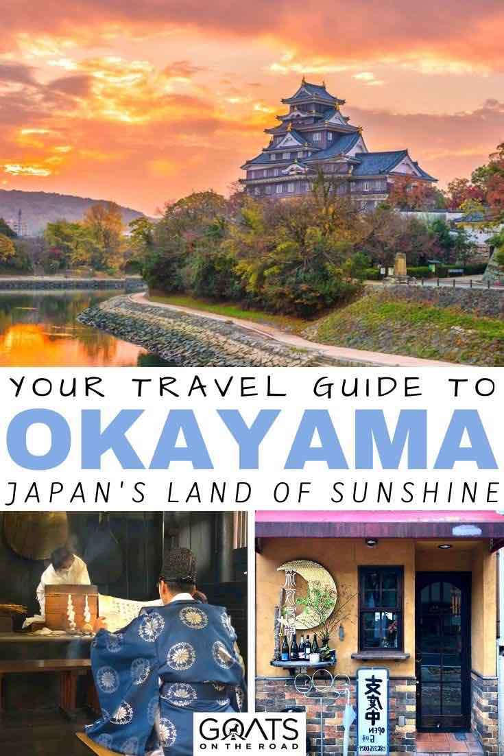 okayama sunset with text overlay your travel guide