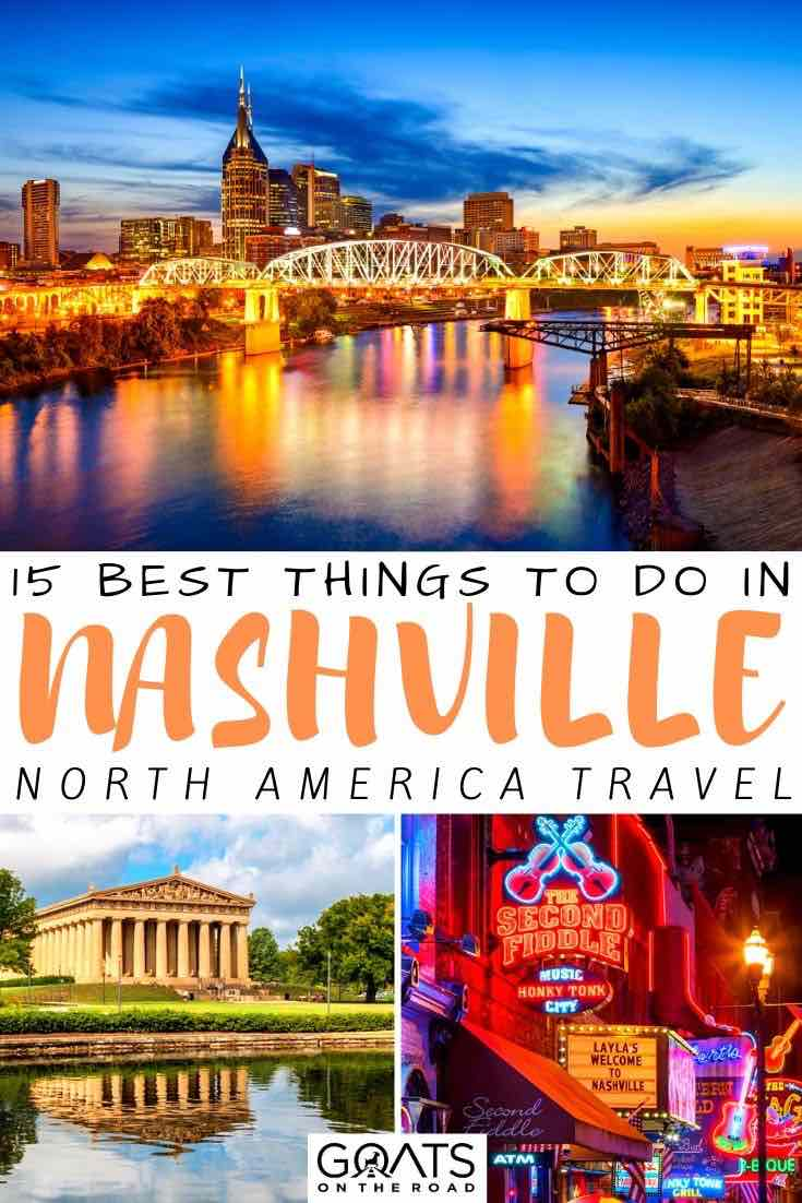 Nashville at night with text overlay 15 best things to do
