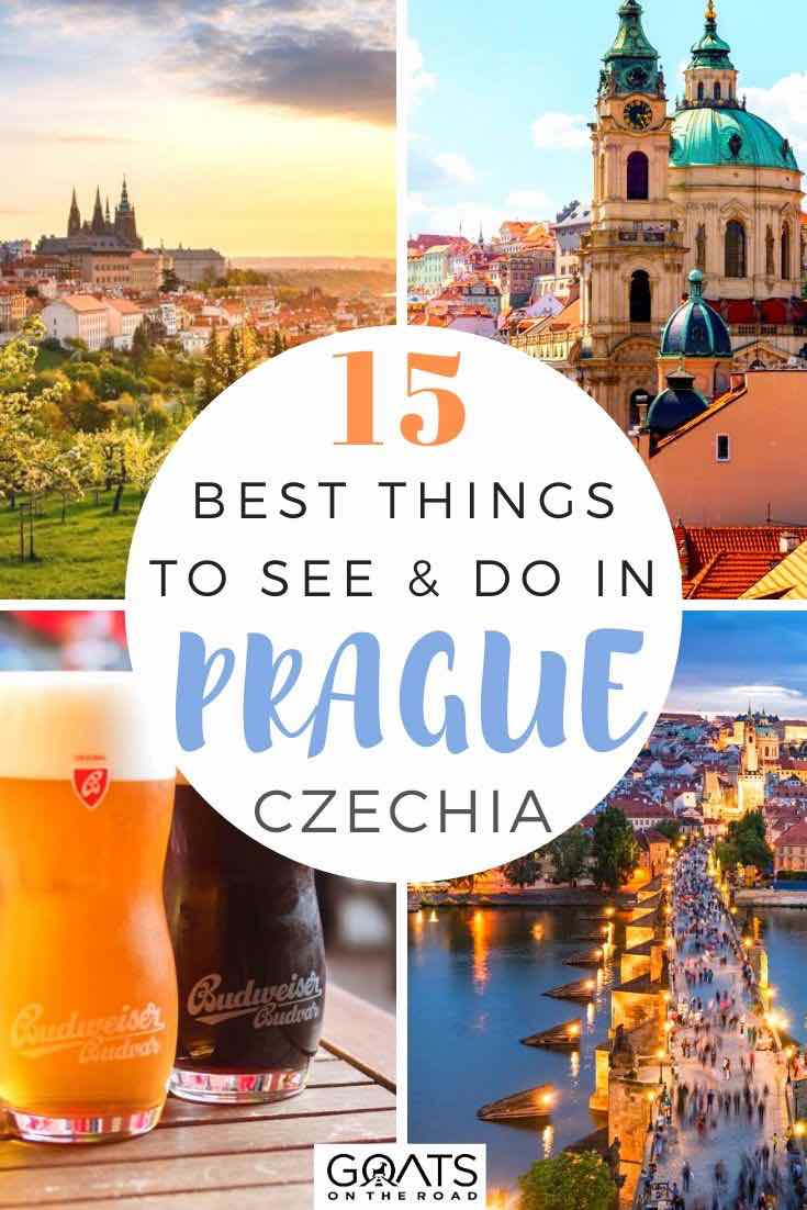 highlights of Prague with text overlay 15 best things to do