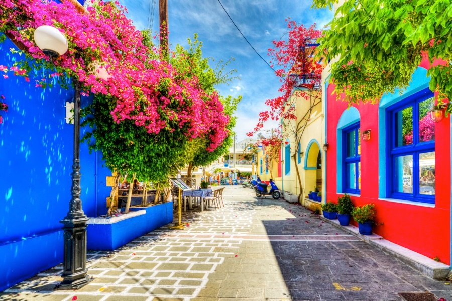 Greece Weather Colorful Buildings Summer