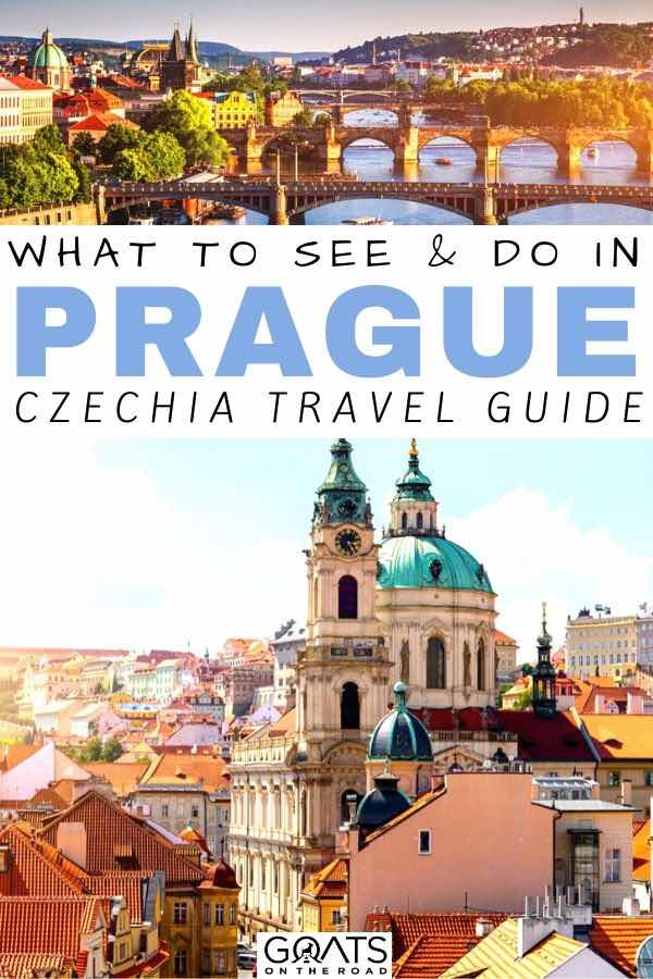 Prague city with text overlay what to see and do
