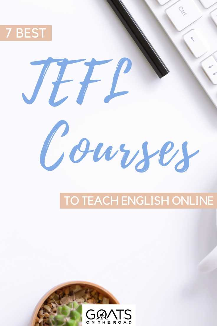 """7 Best TEFL Courses To Teach English Online"