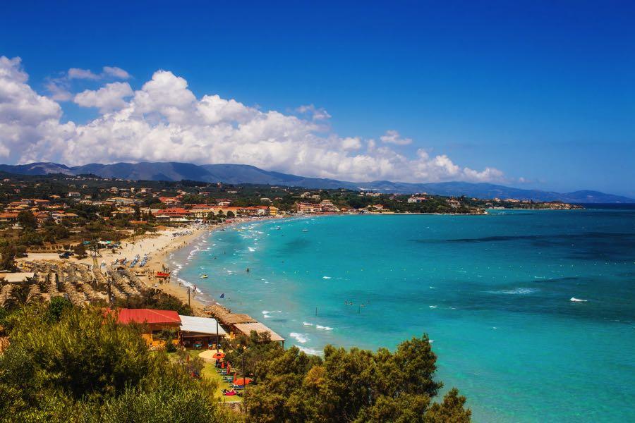 Aerial View Tsilivi Beach Zakynthos