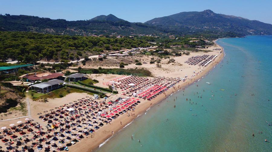 Banana Beach Zakynthos Aerial View