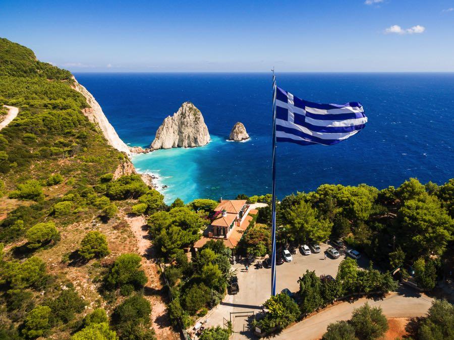 Keri Zakynthos Village Largest Greece Flag
