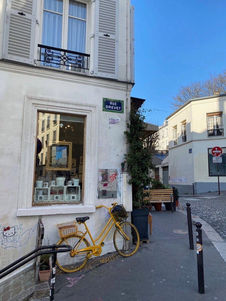 Montmartre Neighbourhood In Paris France