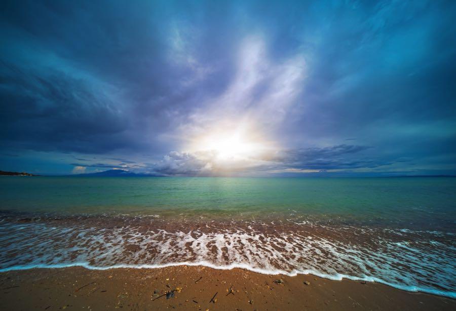 Tsilivi Beach Wide Angle View