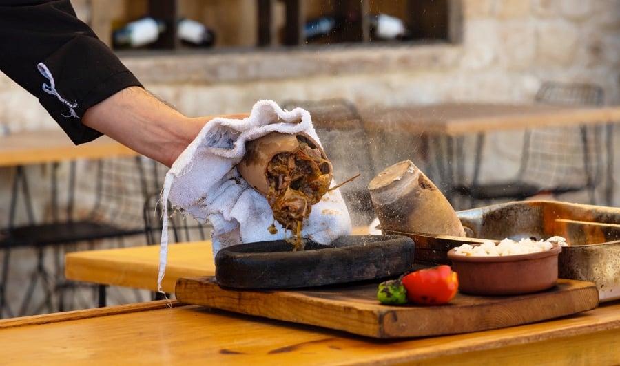 Turkish Food Cappadocia Pottery Kabab Stew