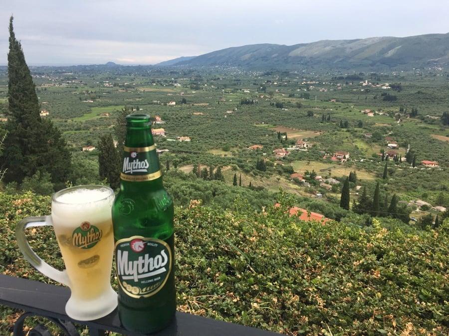 View From Lofos Restaurant Zakynthos
