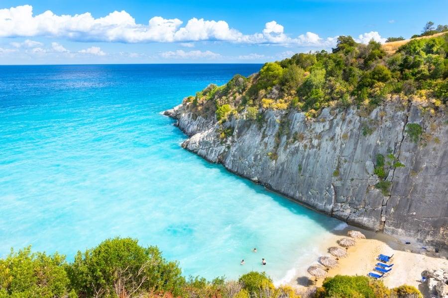 Beaches in Zakynthos: Xigia Beach Aerial View