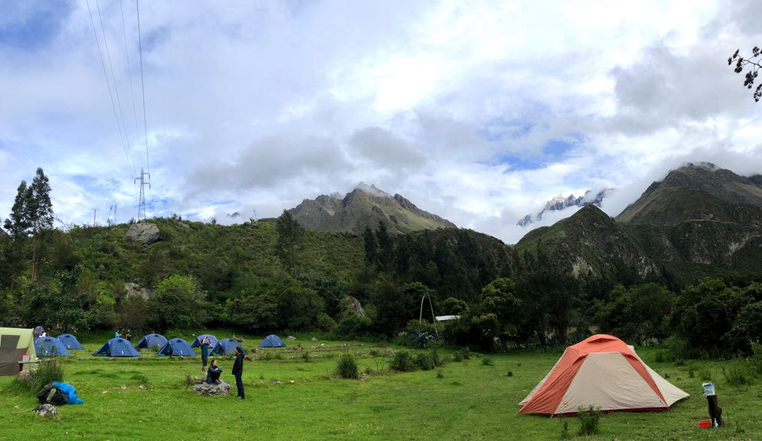 first campsite inca trail
