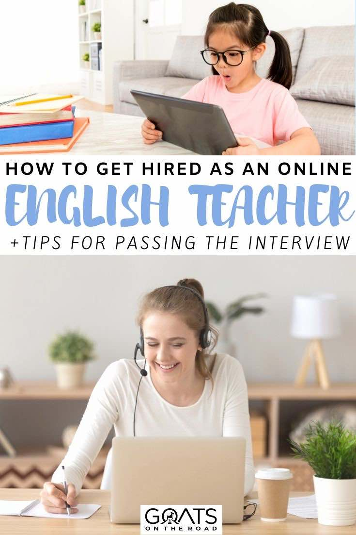 online teacher with text overlay how to get hired