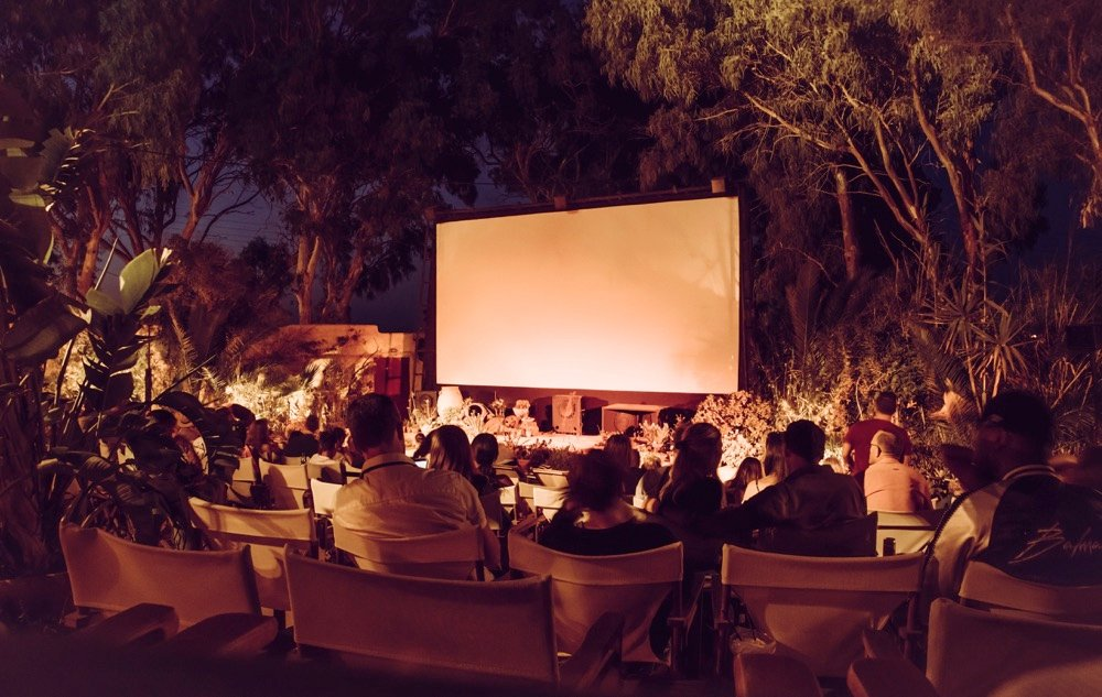 kamari open air cinema santorini