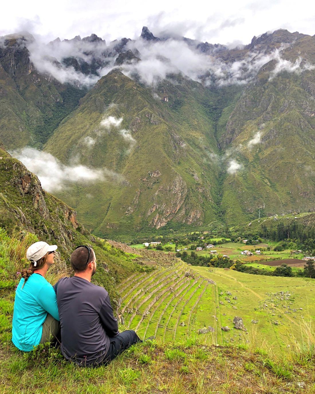 machu picchu view inca trail