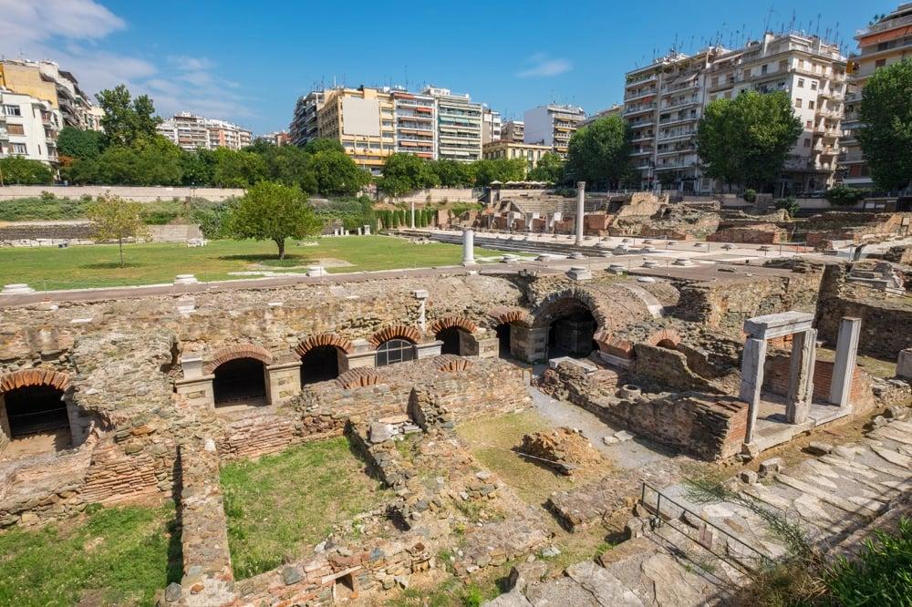 roman agora thessaloniki greece