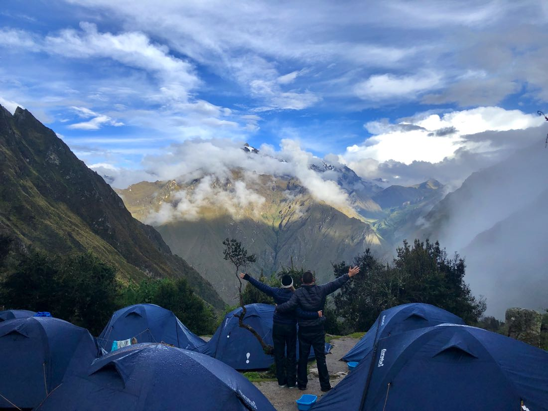 second campsite on inca trail