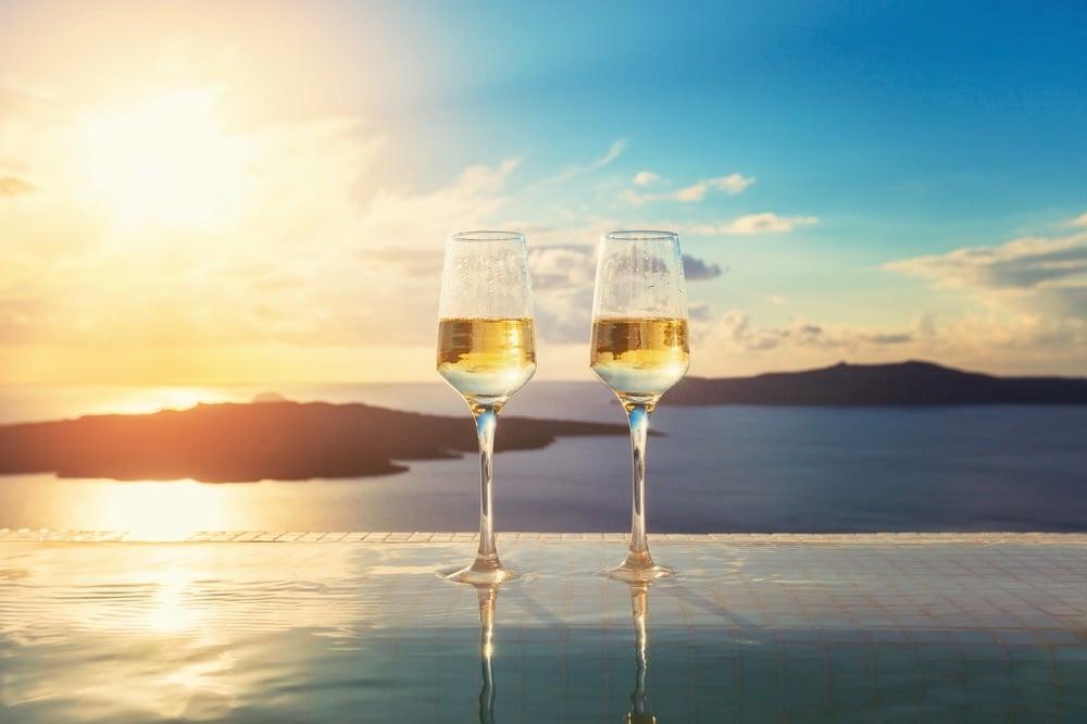 sunset drinks santorini