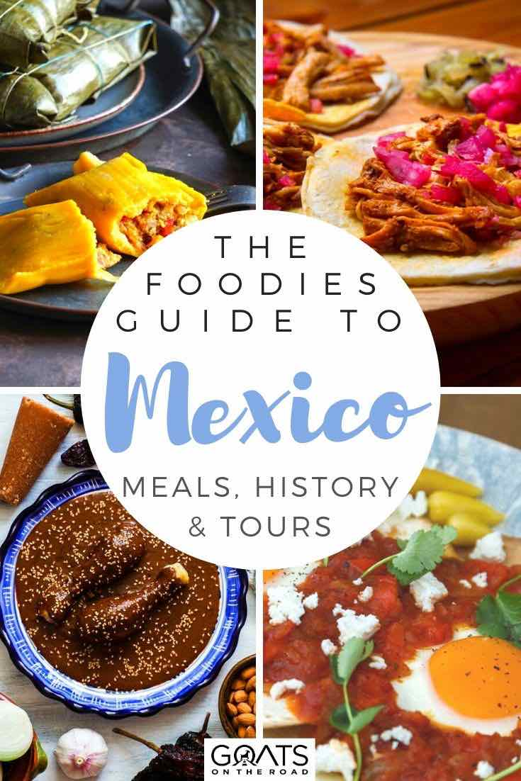 Mexican dishes with text overlay the foodies guide