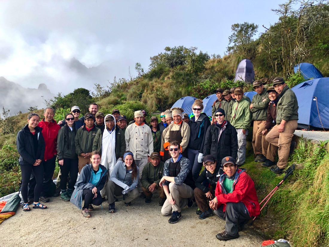 trekking group inca trail trek to machu picchu
