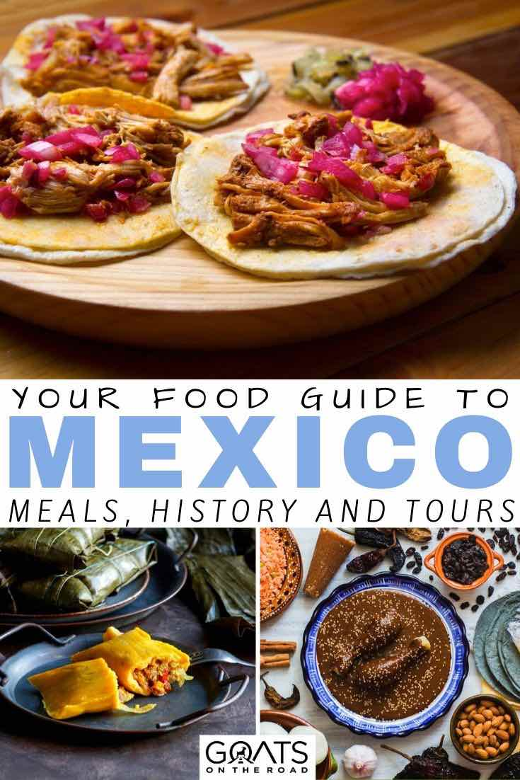 tacos with text overlay your food guide to mexico