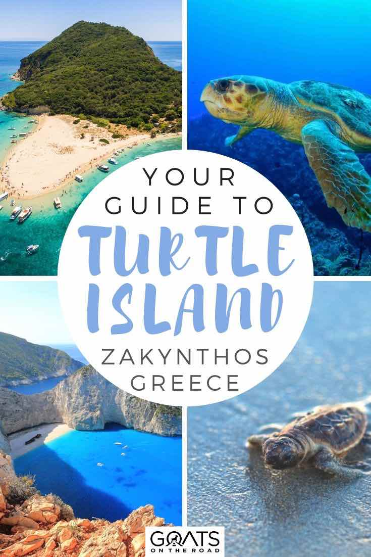 Zakynthos with text overlay your guide to turtle island