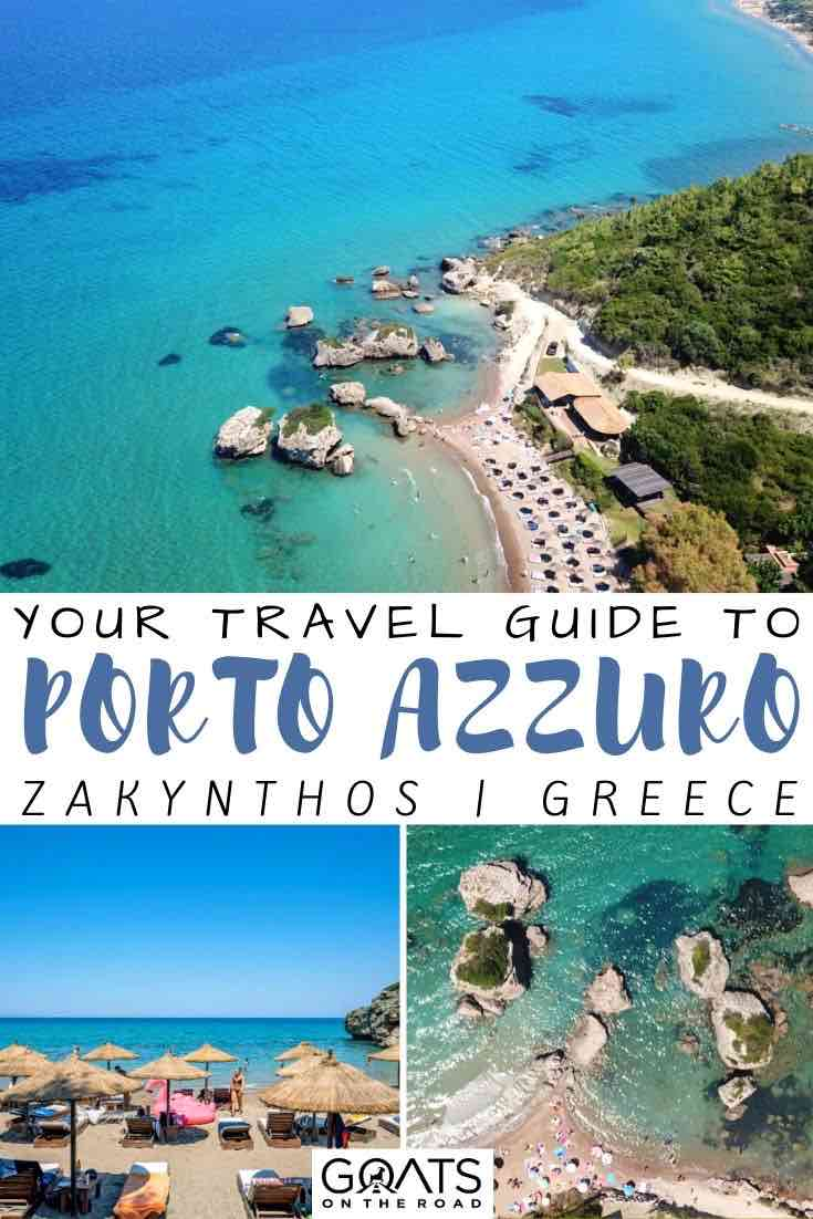 Porto Azzuro with text overlay your travel guide
