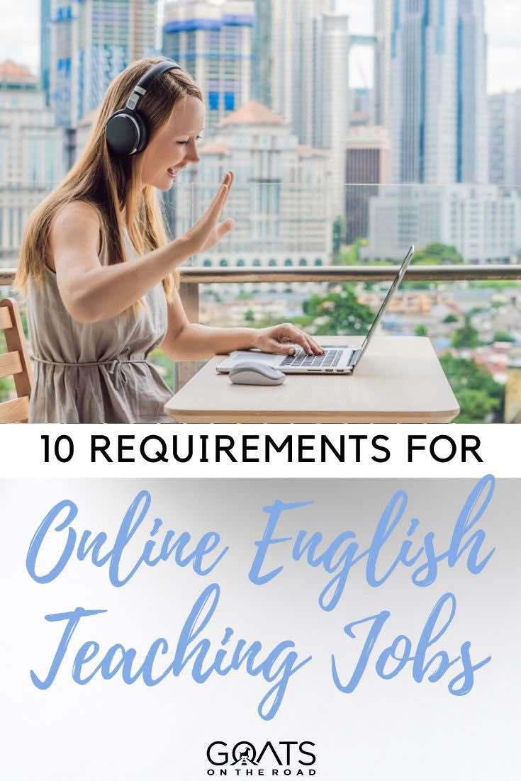 online teacher with text overlay 10 requirements for the job