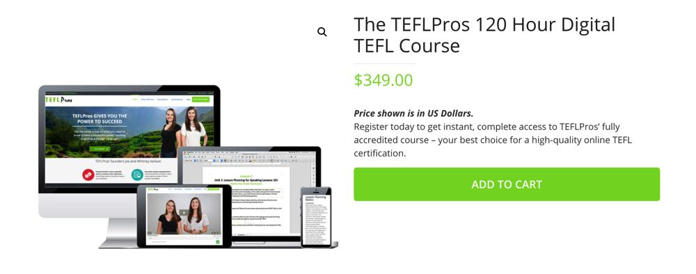 buying the tefl pros course