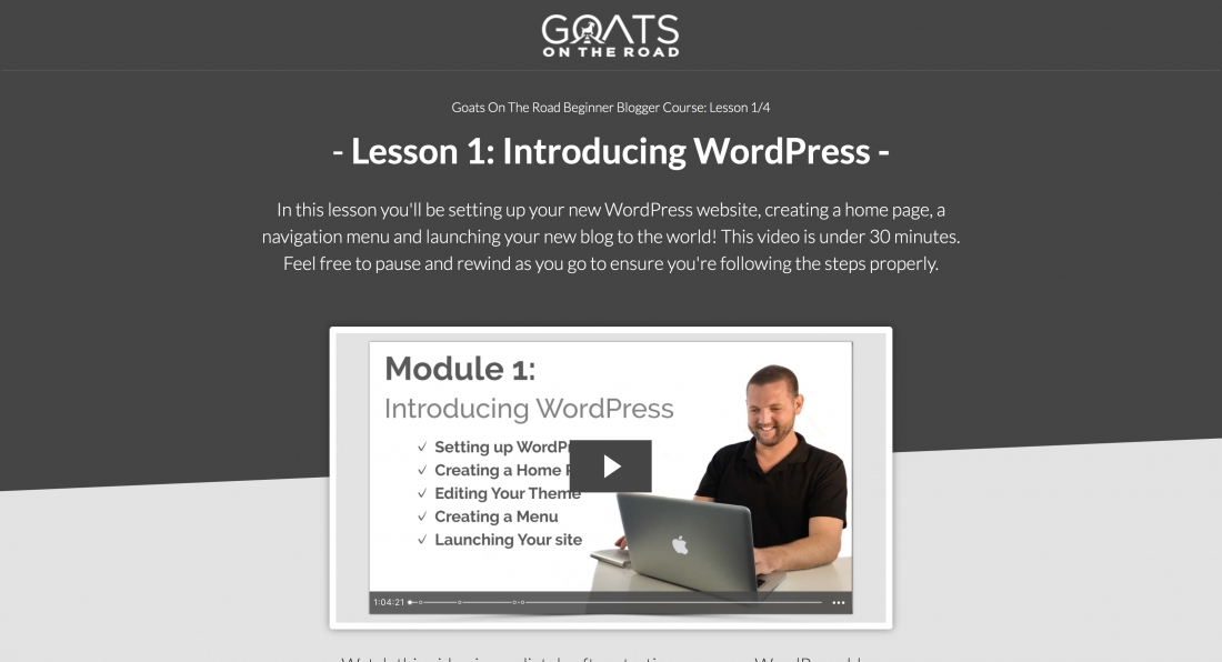 Free Blogger Course WordPress