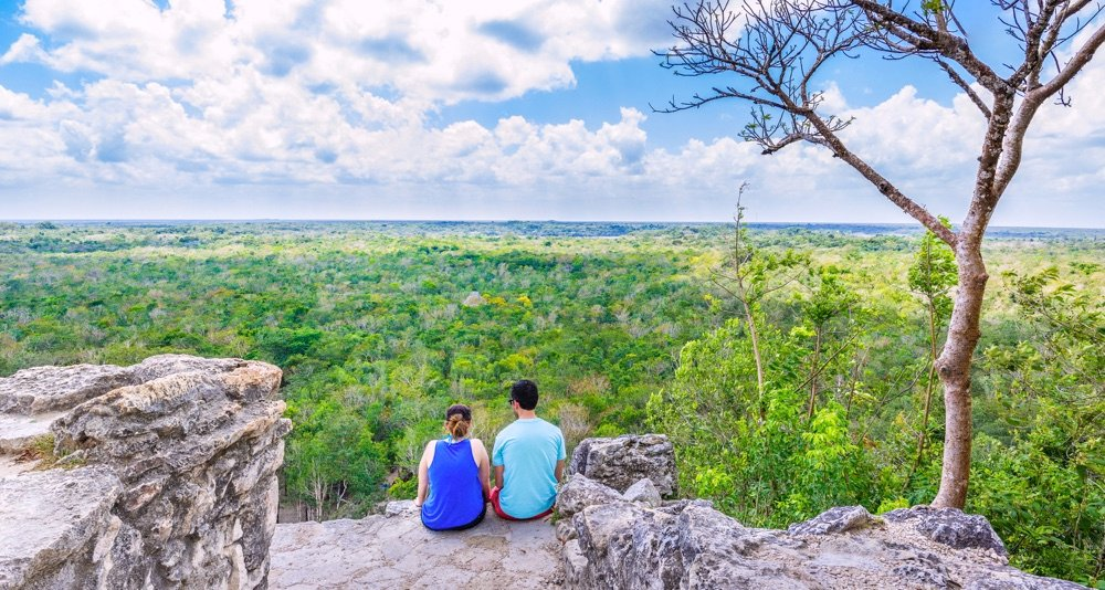 view from coba ruins mexico