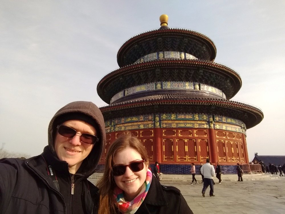 Kacie and Derek at the Temple of Heaven