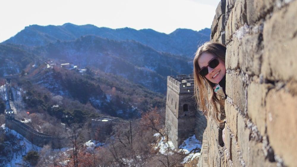 Kacie at the Great Wall