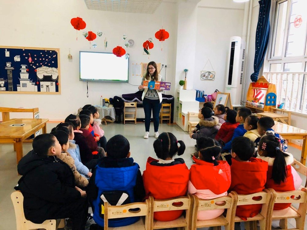 teaching english to a classroom of students in china with a tefl certificate