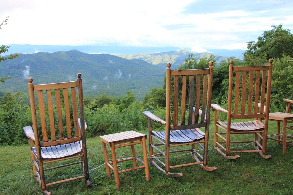 Pisgah Inn rocking chairs in asheville