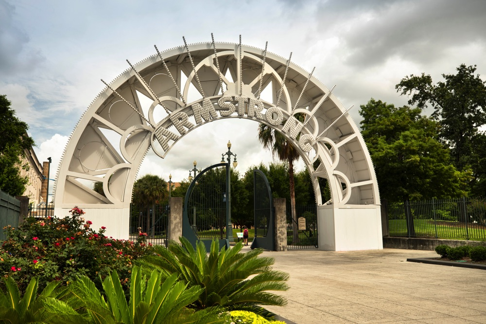 entrance to armstrong park in new orleans
