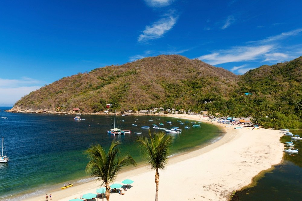 best beahes for quiet yelapa cove mexico