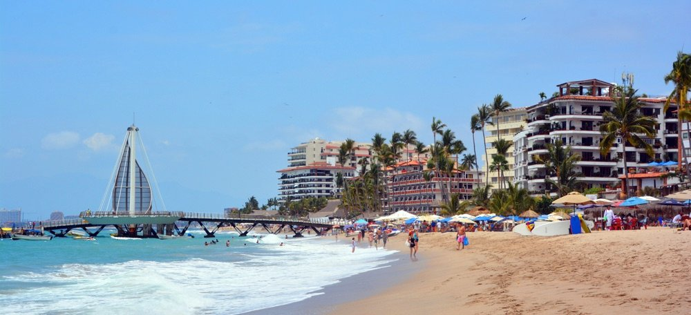 los muertos beach in puerto vallarta mexico