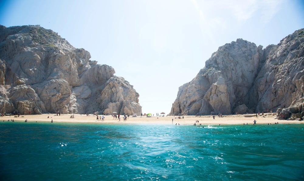 lovers beach cove in cabo san lucas