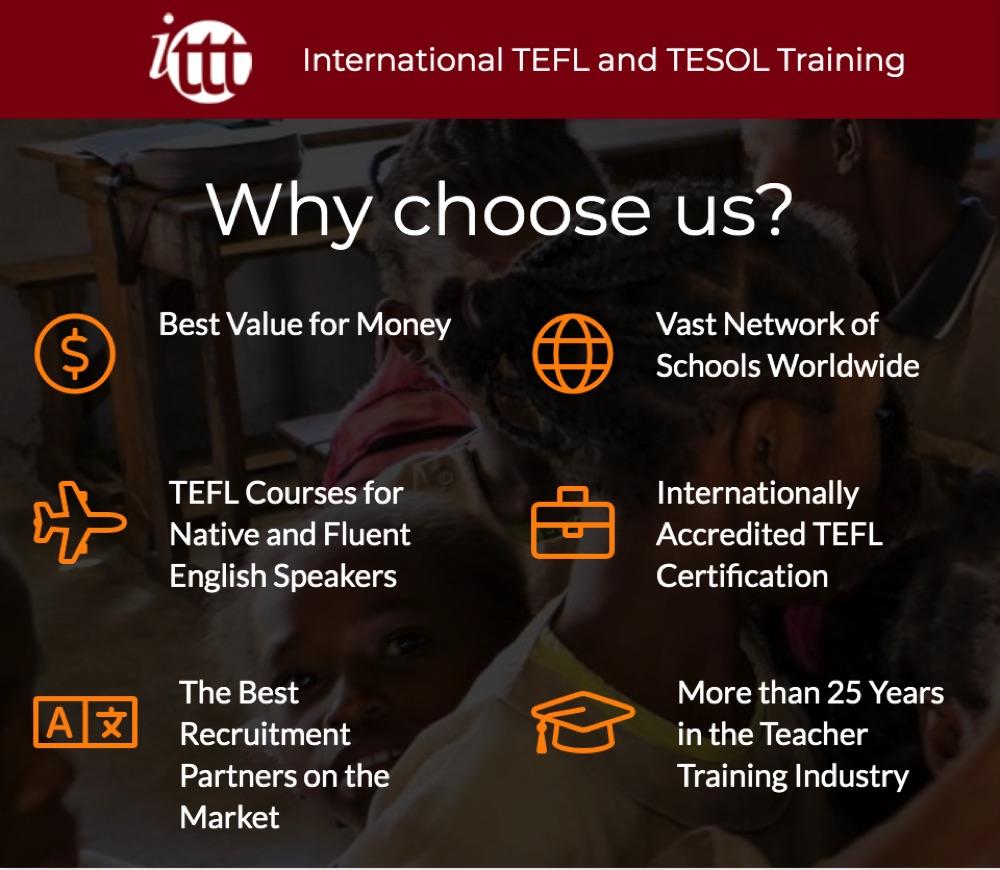 reasons to choose ITTT tefl