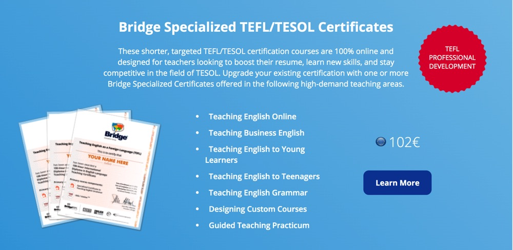 specialized courses tefl