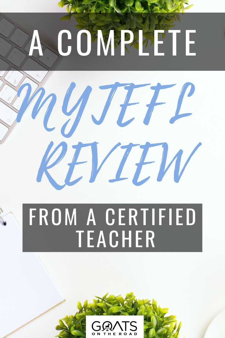 A Complete MyTEFL Review From A Certified Teacher