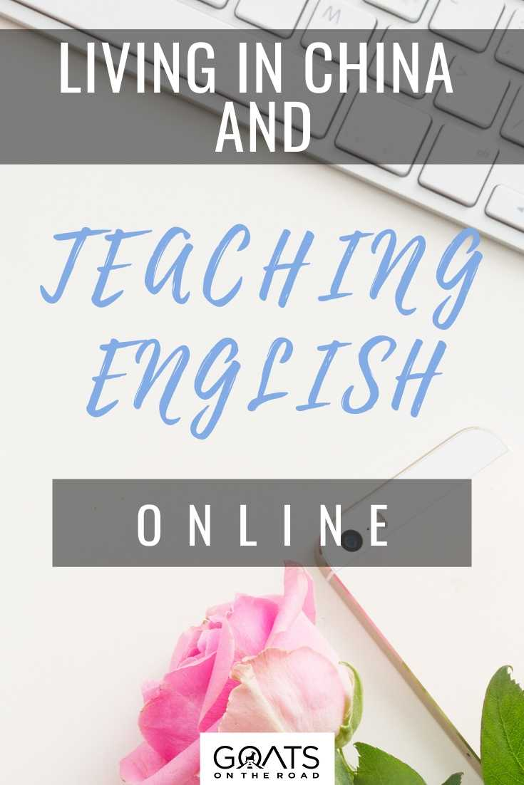 Living in China and Teaching English Online